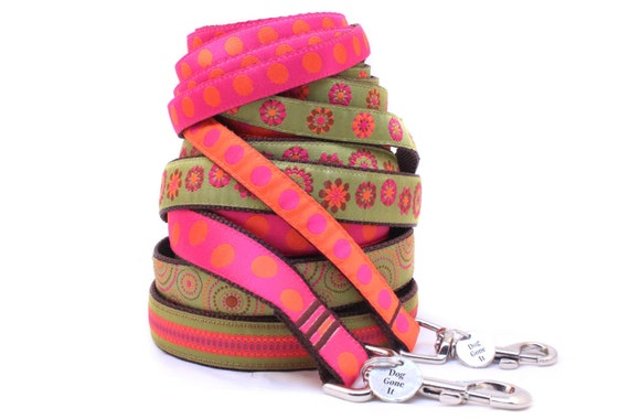 "1"" Personalized Dog Lead. Personalized Dog Leash. Dog Gone It. Embroidered Dog Leash. Custom Dog Lead."