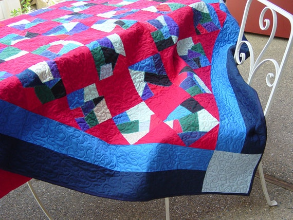 Made to Order, Quilt, Amish crazy quilt, twin, 59x75