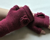 Organic cotton fingerless gloves