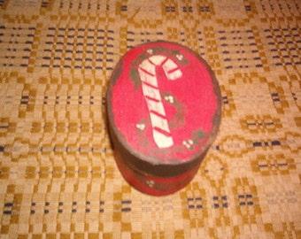 Candy Cane Christmas Box