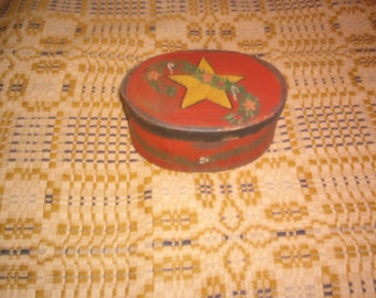 Handpainted Christmas Star Box