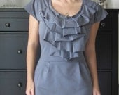 Long Sleeve Version Of English Rose Ruffle Dress