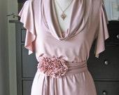 Spring Dress With Secret Garden Belt -A Bundle Listing