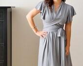 Grey Prom Dress / Bridesmaid Dress / Cocktail Party Dress/ Custom Dress