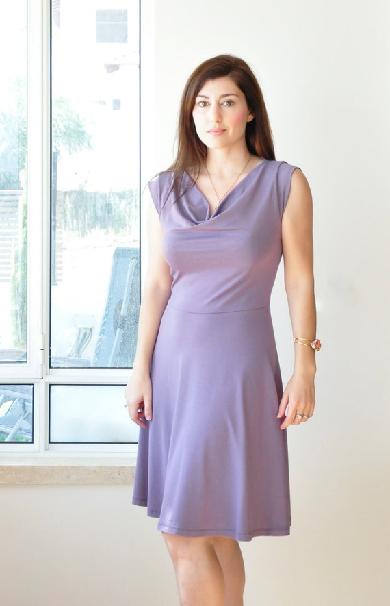 Cowl dress sale- Last one - size 6-8 (model is a size 8), 62 inches tall