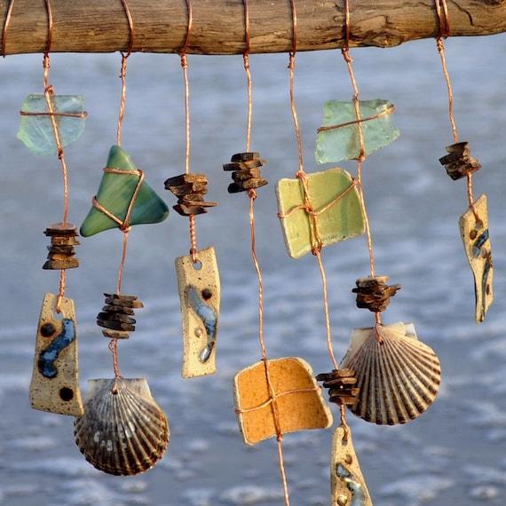 Seaside Echoes wind chime handmade mobile