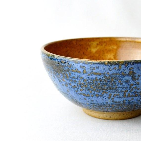 Eclectic Ceramic Bowl - Cinnamon Blue gorgeous wheel thrown dish