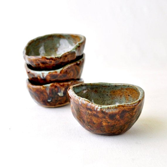 Psychedelic earth pottery cups wabi sabi autumn tea bowls for Cuisine wabi sabi