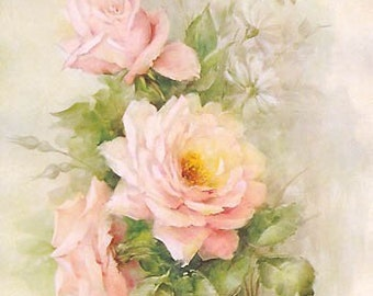 Art Print, A Handful of French Pink Roses, Catherine Klein, Shabby Chic, Rose, Roses