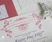 30 Royal Princess Baby Shower or Birthday Party Invitations Printed with Custom Guest Addressed Envelopes
