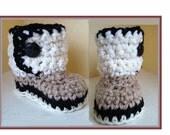 Baby Booties Crochet Pattern, num. 454, sizes newborn to age 2, handmade patterns, instant digital downloads