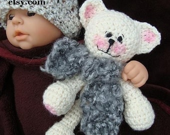 CROCHET PATTERN, number 170, Baby's first teddy bear,  baby safe, child's toy, amigurumi, miniatures