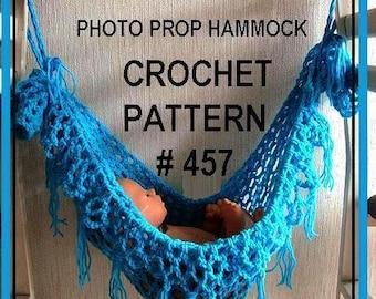 CROCHET PATTERN, Instant download,   FRINGED Hammock photo prop handmade pattern #457 , basket liner, permission to sell finished hammocks