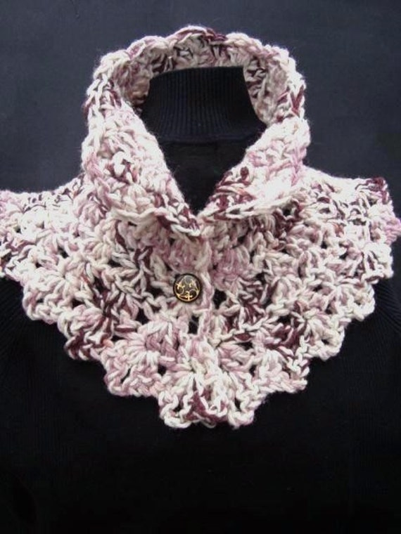 CROCHET PATTERNnumber 42 CHUNKY VICTORIAN COLLAR, SCARF. Make it