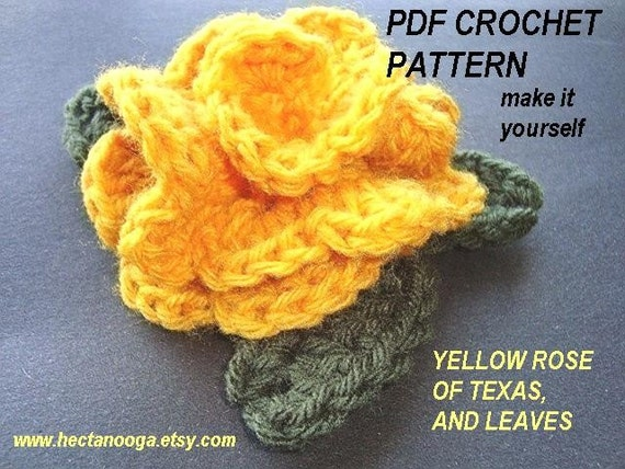 Crochet Patterns Yellow : CROCHET PATTERN. number 66... YELLOW ROSE OF TEXAS...PDF... Over 200 ...