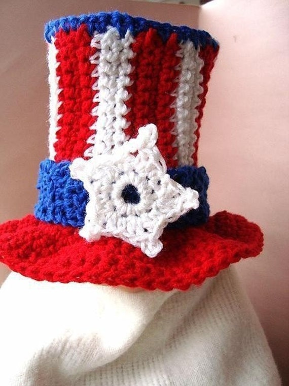 Crochet PATTERN ....UNCLE SAM Hat num 252 newborn to age 5