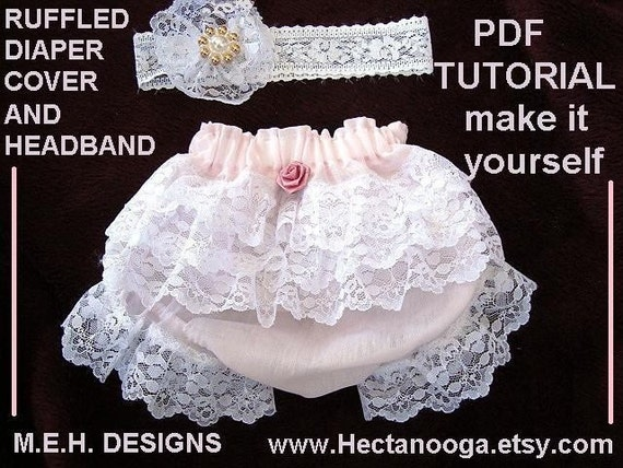 SEWING PATTERN, NO 293, Ruffled Diaper cover, newborn to 12 months, sew easy