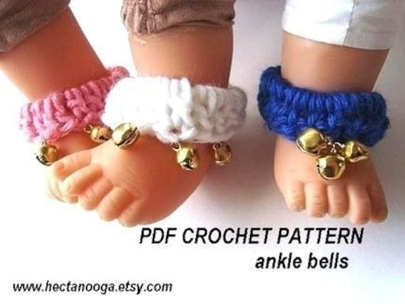 264, Crochet Pattern, BABY ANKLE BELLS, Music for Baby