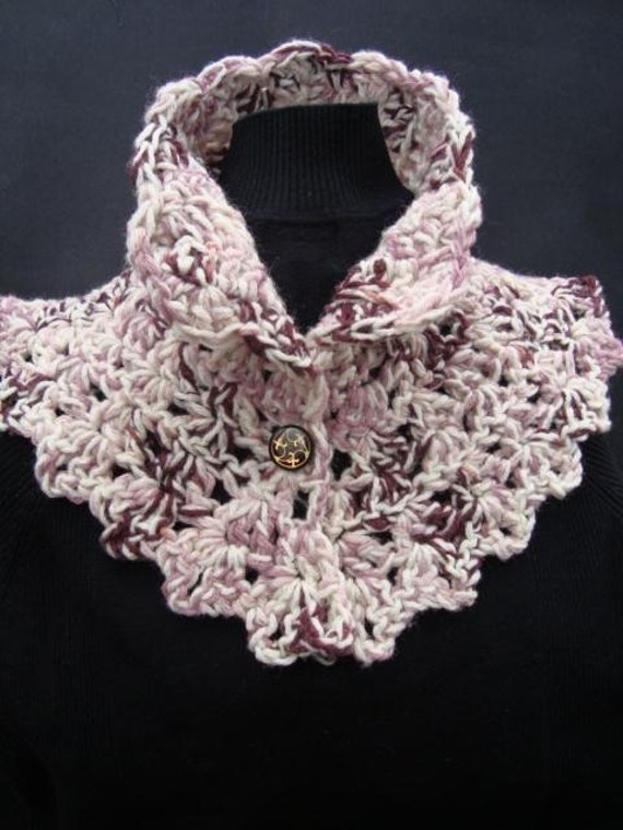 Crochet Pattern Chunky Victorian Collar Scarf Make It