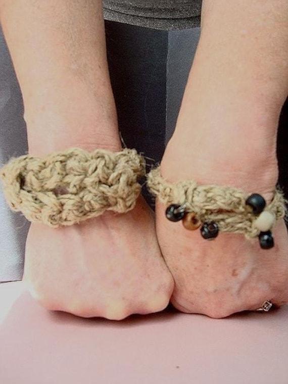 Crochet Patterns I Can Make And Sell : CROCHET PATTERN number 96.. HEMP BRACELET ANKLE