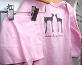 Pink Dearly Divine long sleeve organic set- onesie and hat