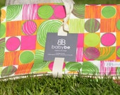 CLEARANCE organic baby blankie, pink and orange