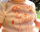 Lion's Breath, organic short sleeve onesie