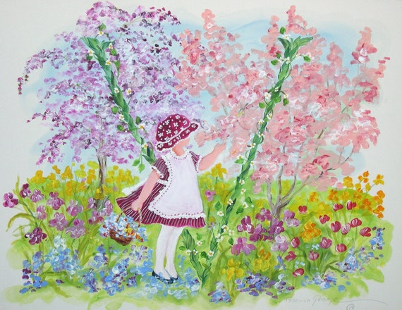 V  Young Girl in a Garden of Flowers