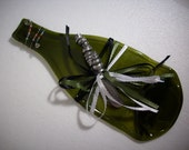 Fused Recycled Wine Bottle