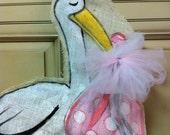 burlap stork