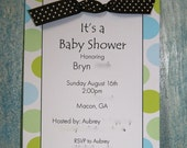 5.5x8.5 SET OF 10 Baby Shower Invitations