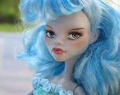 Blue Ghoulia - Monster High doll repaint by Marina OOAK