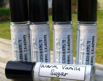 Warm Vanilla Sugar - Perfume Oil - 10mL Glass Roll-On Bottle