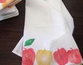 Apple Print Flour Sack Tea Towel