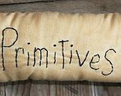 Hand Stitched Pillow OFG Team Primitive  Folk Art Muslin Pillow Primitives Small