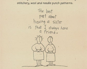 The Sisters Book Primitive Folk Art Stitchery, Wool and Needle Punch Patterns