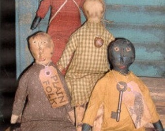 Primitive Doll Pattern Folk Art Plain Folks OFG Team