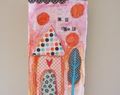 Our House Gift For Her Original Mixed Media Pink
