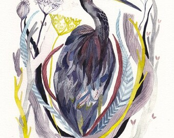 Heron - Archival Print