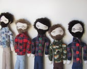 custom bearded folk man doll