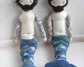 bearded merman doll