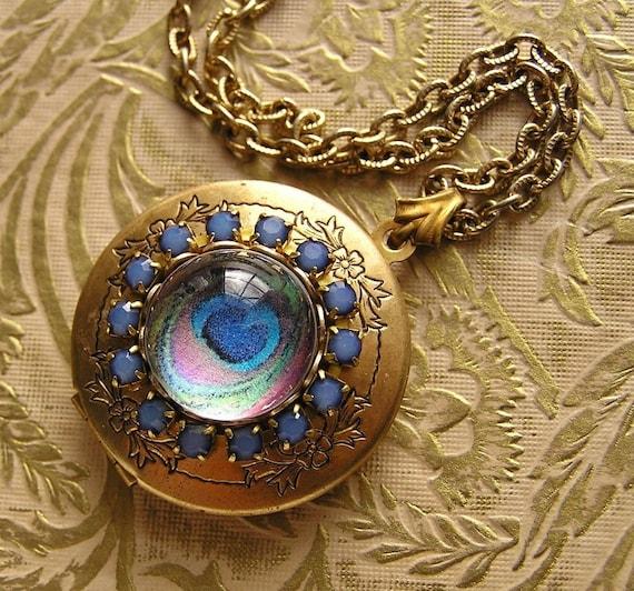 Peacock Blue Locket