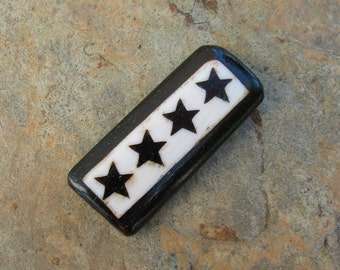 Unique Bone Bead with Stars - Wow