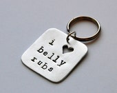 READY TO SHIP: Handmade Pet Tag. I Love Belly Rubs. Metal Dog Tag. Cute Gift for Pets, Pet Lovers. Aluminum Dog Tag. Pet Accessory.