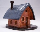Wee Ceramic House With Slate Roof