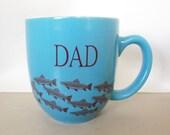 Ceramic Fishing Mug for Dad - Extra Large - SAME DAY Shipping