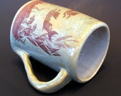 Ceramic Mermaid Mug - Sage Green and Sepia - SECOND SALE