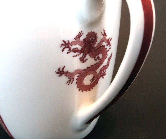 Lucky Luck Dragon Mug 12 Ounces Ceramic White Coffee Cup