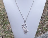 FAITH - Silver Chain Necklace with Large Scripted Faith Pendant