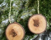 Wooden Ceiling Fan Pulls .. Rustic Red Maple Wood Tree Branch Pulls -  Lot of 2 ...  For Nature Lovers and Earth Friendly Home Decor